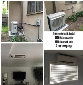 Ductless Heating In Ceiling install