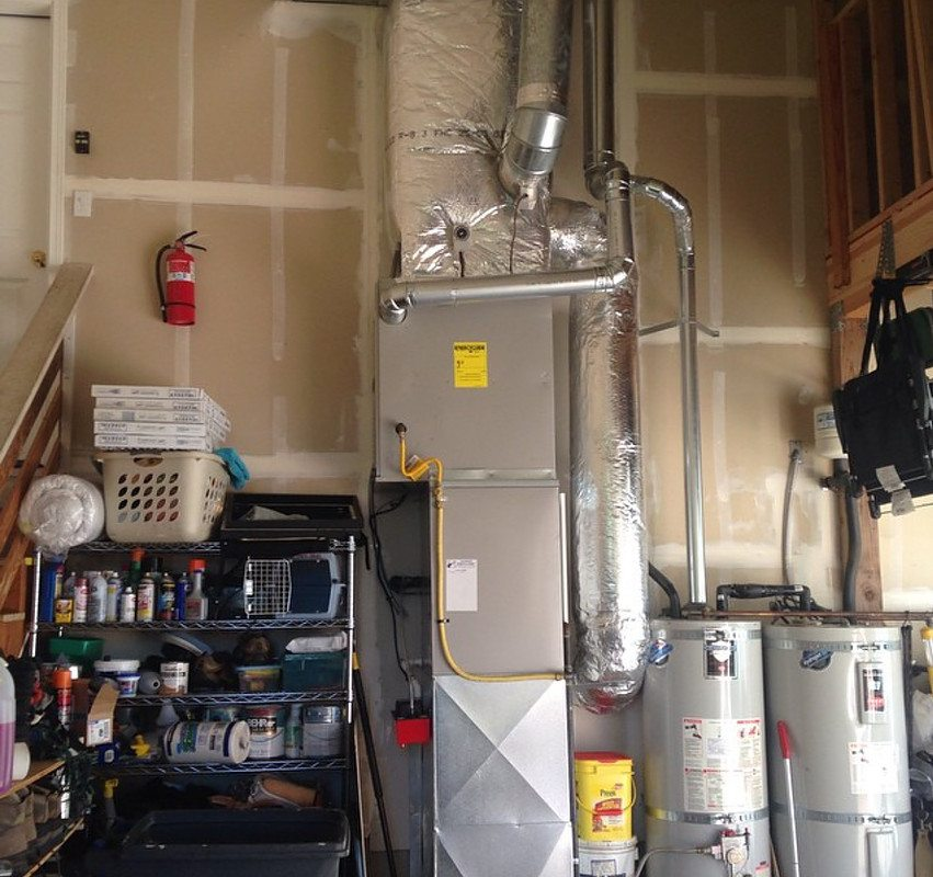 Gas Furnace and two water tanks