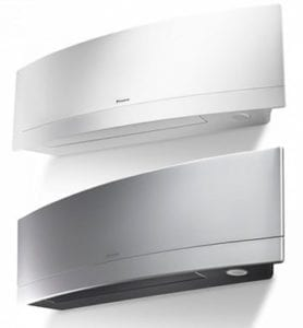 Daikin ductless Emura available in silver white
